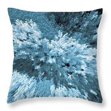 Crystal Flowers Throw Pillow by David Pyatt