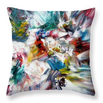 Crystal Layers Throw Pillow