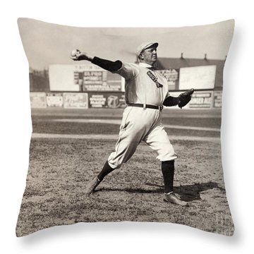 Cy Young (1867-1955) Throw Pillow by Granger