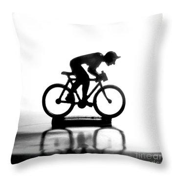 Cyclist Throw Pillow by Bernard Jaubert