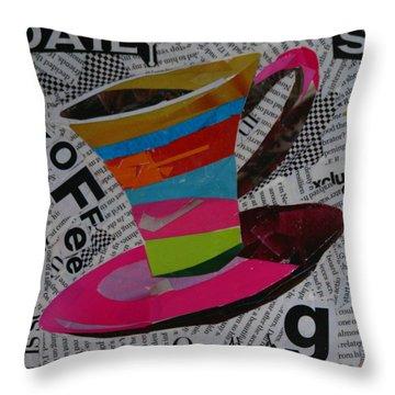 Daily Koffee  Throw Pillow by Lynn Chatman