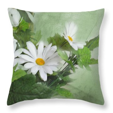 Throw Pillow featuring the photograph Daisies by Mary Timman