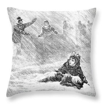 Dakota Blizzard, 1888 Throw Pillow by Granger