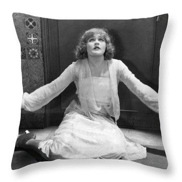 Damsel In Distress Throw Pillow by Granger
