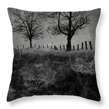 Dark Roost Throw Pillow by Ron Jones