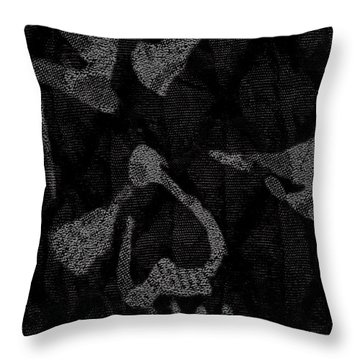 Dark Skull Throw Pillow by Roseanne Jones