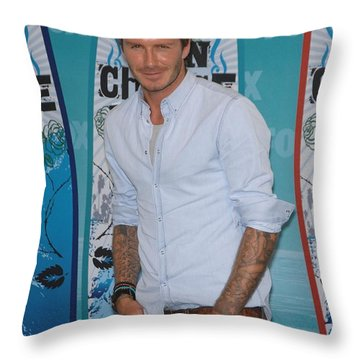 David Beckham Throw Pillows