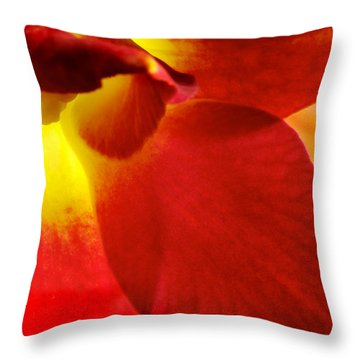 Dendribium Malone Or Hope Orchid Flower Throw Pillow by Perla Copernik