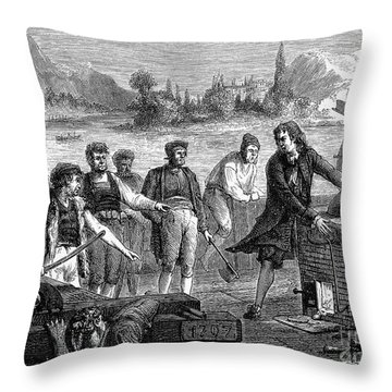 Denis Papin (1647-1712) Throw Pillow by Granger