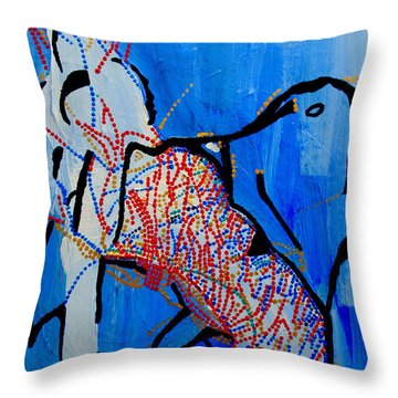 Dinka Corset - Manlual - South Sudan Throw Pillow by Gloria Ssali