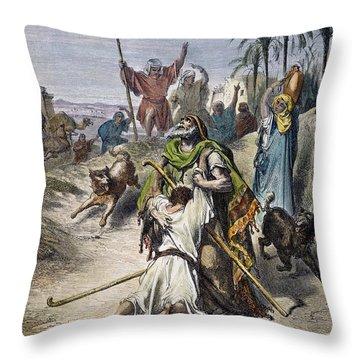 Dor�: Prodigal Son Throw Pillow by Granger