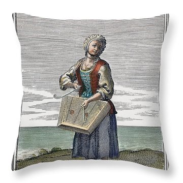 Dulcimer, 1723 Throw Pillow by Granger
