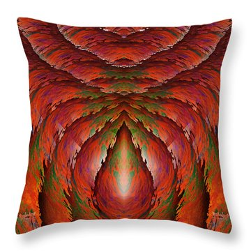 Eagle Heart Throw Pillow by Christopher Gaston