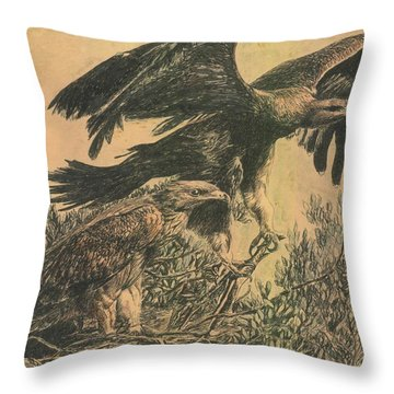 Eagle's Roost Throw Pillow