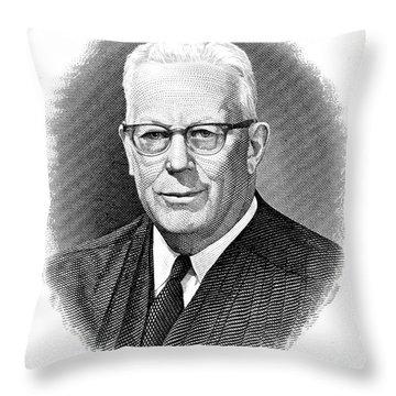 Earl Warren (1891-1974) Throw Pillow by Granger