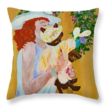 Easter Lilly Throw Pillow by Gail Daley