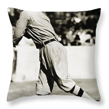 Eddie Plank (1875-1926) Throw Pillow by Granger