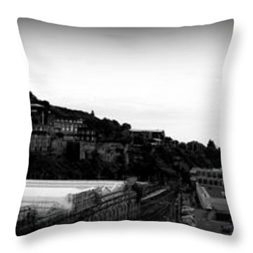 Edinburgh Station Panorama Throw Pillow