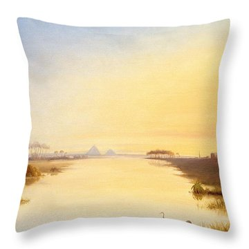 Egyptian Oasis Throw Pillow