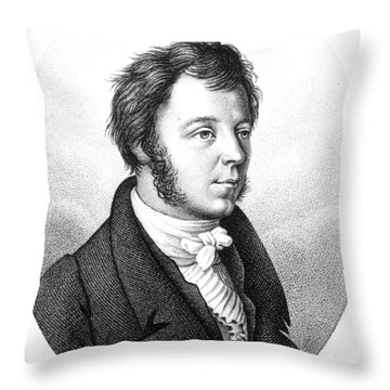 Eilhard Mitscherlich, German Chemist Throw Pillow by Science Source