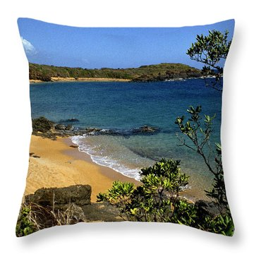 El Convento Beach Throw Pillow by Thomas R Fletcher