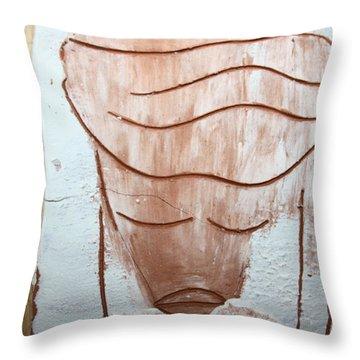 Ella - Tile Throw Pillow by Gloria Ssali