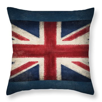 England Flag Throw Pillow by Setsiri Silapasuwanchai
