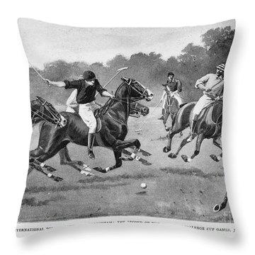 England: Polo, 1902 Throw Pillow by Granger