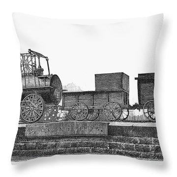 English Locomotive, 1825 Throw Pillow by Granger