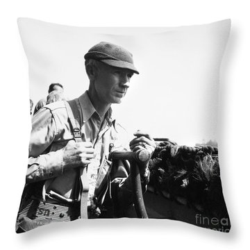 Ernie Pyle (1900-1945). American Journalist. Photograph, C1942 Throw Pillow by Granger