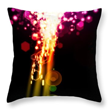 Explosion Of Lights Throw Pillow by Setsiri Silapasuwanchai