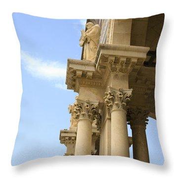 facade of Church of all Nations Jerusalem Throw Pillow