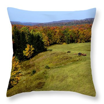 Fall Color Randolph County West Virginia Throw Pillow by Thomas R Fletcher