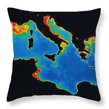 False-col Satellite Image Throw Pillow by Dr. Gene Feldman, NASA Goddard Space Flight Center
