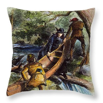Father Jacques Marquette Throw Pillow by Granger