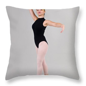 Female Dancer Throw Pillow by Ilan Rosen