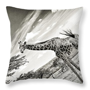 Female Giraffe Throw Pillow