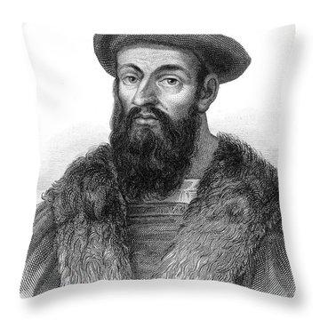 Ferdinand Magellan Throw Pillow by Granger
