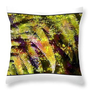 Fern In Dappled Light Throw Pillow by Judi Bagwell