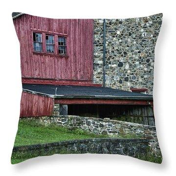 Field Stone Barn Throw Pillow by John Greim