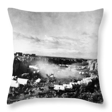 Film: The Covered Wagon Throw Pillow by Granger
