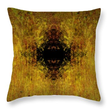 Fire Throw Pillow by Christopher Gaston
