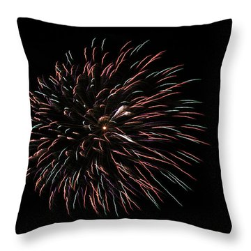 Fireworks Fun 3 Throw Pillow by Marilyn Hunt