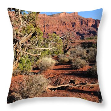 Fisher Towers At Sunset Throw Pillow