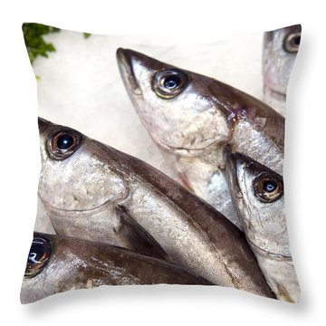 Fishes Throw Pillow by Jane Rix