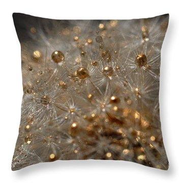 Fleur D'or Throw Pillow