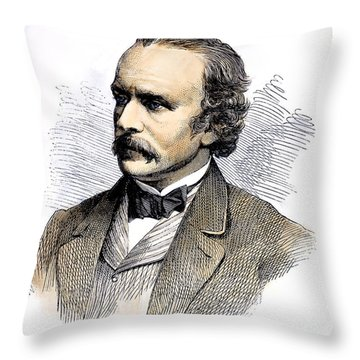 F.o.c. Darley (1822-1888) Throw Pillow by Granger