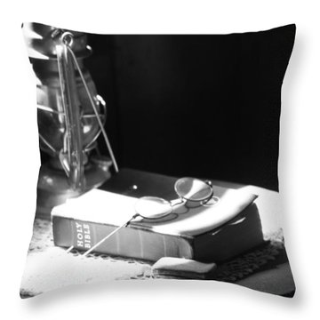 Follow The Light Throw Pillow by Empty Wall