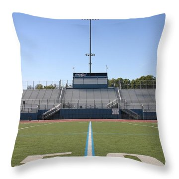 Throw Pillow featuring the photograph Football Field Fifty by Henrik Lehnerer