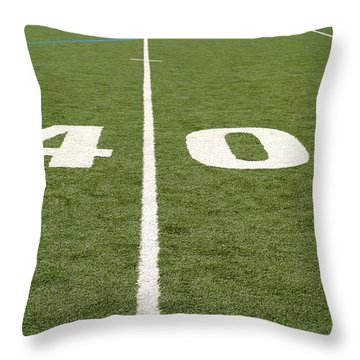 Football Field Forty Throw Pillow by Henrik Lehnerer